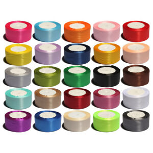 50Yards 4cm Shiny Silk Solid Satin Ribbons for Wedding Decoration Gift Packing