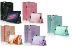 Glitter Magnetic Leather Bling Shiny Wallet Stand Case For All Apple iPads 10.2