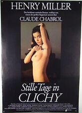 Stille Tage in Clichy CLAUDE CHABROL - Filmplakat DIN A1 (gerollt)