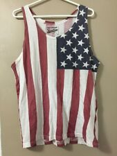 Men's Brooklyn Cloth Tank Top Size Medium USA Flag (Red, White & Blue) M