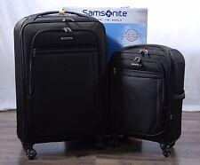 "Samsonite Ultralite 2 Softside Spinner Suitcase Luggage Set 21"" 27"" Black Nylon"