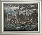 """""""MIDNIGHT NYC"""" FRAMED CANVAS 8""""X10"""" PRINT FROM ARTIST ORIGINAL, SIGNED FREE SHIP"""