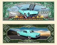 FORD THUNDERBIRD 1955  BILLET MILLION DOLLARS US ! Collection Voiture Car T-Bird