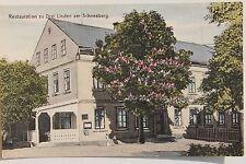 26192 AK Restaurant zu Drei Linden am Schneeberg mit Kastanien Baum 1915 Böhmen