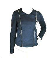 Giacca Jeans Giubbotto Donna KAOS Made in Italy H752 Giubbino Blu Tg S