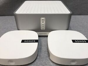 SONOS Connect AMP & TWO Sonos BOOST WiFi Extenders Home Audio Streaming *