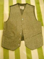Territory Ahead Mens Medium 100% Wool Tweed Herringbone Vest Waistcoat