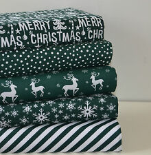 Weihnachten Stoff 5 Stück FQ Fett Quartal Bündel Poly Baumwolle Green Spot Reh Schnee