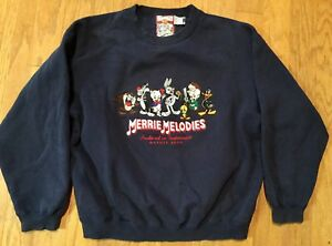 Tiny Toons Looney Tunes XL Pullover Sweatshirt Jumper Crewneck Vintage 90s Made In USA Buster Bunny Dizzy Devil Babs Bunny