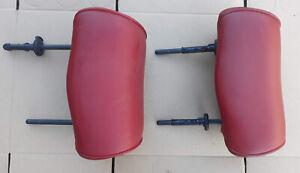 1998 Alfa Romeo 156 Genuine Left +Right Rear Head Rest Leather Red
