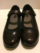 Drew Women's Burgundy Croc Embossed Patent Leather Mary Jane Shoes Size 10.5 M