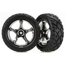 Traxxas 2479R Front Chrome Wheels/Anaconda Tires: Bandit VXL, XL-5