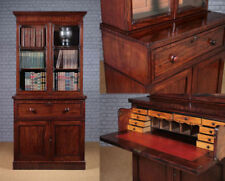 Mahogany Secretarire Bookcase Antique Bookcases