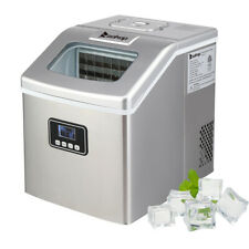 New 40lbsday Portable Electric Ice Maker Countertop Cube Compact Machine Sliver