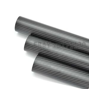 ID 76mm x OD 80mm x 500mm 3k Carbon Fiber Round Tube Matte (Roll Wrapped) 80*76