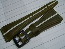 RARE NOS 25MM GREEN OLIVE LEATHER STRAP FOR TISSOT ASTROLON IDEA 2001      *5407