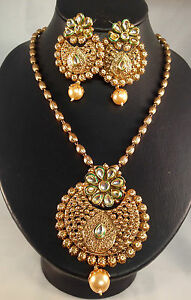Golden Indian Jewellery,traditional necklace set,Bollywood style DH14-2629
