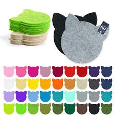 KATZE  FILZ Untersetzer Tassenuntersetzer  11,5 cm oder 23 cm / 31 Farben