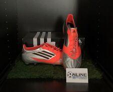 Adidas F50 Adizero TRX FG Leather - Silver/Red UK 10.5, US 11, EU 45 (1/3)