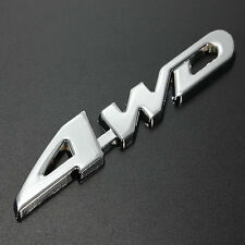 3D Metal ✓ 4WD Emblem Badge Logo Car Sticker Silver Chrome for 4 x 4 Sports SUV