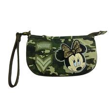 MINNIE beauty porta oggetti in stoffa camouflage vintage con zip 22x12,5 cm
