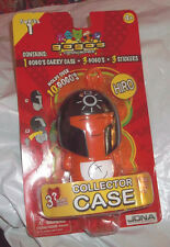 HIRO ORANGE  GOGO'S CRAZY BONES Series 1 COLLECTOR CASE Sealed with 3 GOGO'S