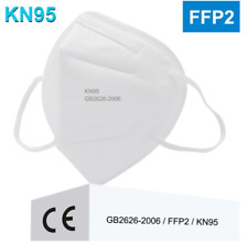 10 FACE MASK FFP2 WITH 4 LAYERS RESPIRATOR PROTECTION