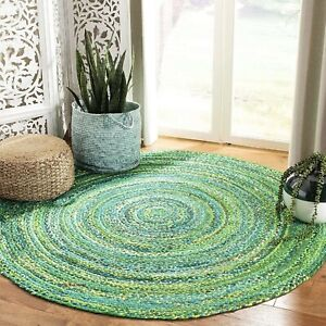 Rug 100% Natural cotton Braided Style Modern Reversible Rustic Look Area Rugs