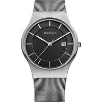 BERING Armbanduhr Herren Saphirglas silber schwarz Datum Edelstahlband NEUHEIT