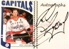 04-05 franchises national chicago rod langway washington capitals autograph auto