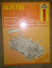 Austin Maxi - Haynes Workshop Manual - 1969 to 1981