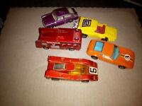 Matchbox car LOT x5 Inc Firetruck,Volkswagen,and more