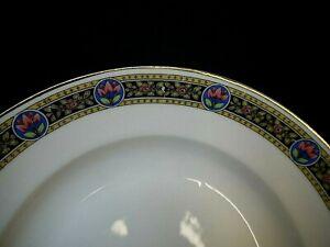 6 assiettes creuses en porcelaine de Limoges ou Paris Art Déco