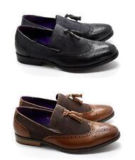 Vestido De Fiesta nuevo Para Hombres Borla Arco Slip-On Formal Traje Italiano Zapatos UK Tamaños 6-11