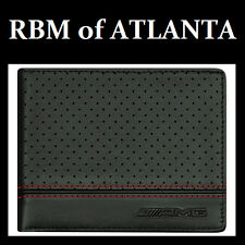 Genuine Mercedes Benz AMG Perforated Leather Wallet
