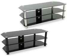 """AVF Universal Black Glass TV Stand 1250mm For TVs 32"""" to 60"""" LED LCD OLED CURVED"""