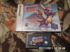 "Gameboy Advance GBA Game: Spyro 2 ""Season Of Flame"" w/ Instruction Manual"