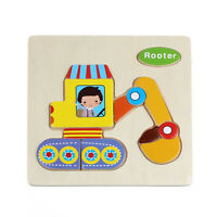 Cute Wooden Rooter Puzzle Educational Developmental Baby Kids Training Toy A5