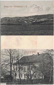 Alte AK Gruss aus Röthenbach im Vogtland, Rodewisch, gelaufen 1916, Gasthaus