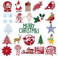 Merry Christmas Metal Cutting Dies Stencil DIY Scrapbooking Paper Card Crafts