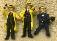 Lot of 3 Vintage Dick Tracy Playmates Disney Loose Action Figures / Toys