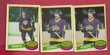 1980-81 OPC   KINGS DAVE TAYLOR + CHARLIE SIMMER   CARD LOT