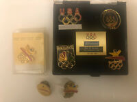 Lot 7 Barcelona 1992 Olympics USA Pins Including JCPenney Set
