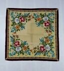 Vintage Needlework Tapestry Hand Stitched Silk and Metal Threads 92X88 cm