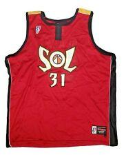 Vintage Miami SOL Debbie Black WNBA Basketball Jersey Size L Adult