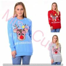 Unbranded Reindeer Medium Knit Women's Jumpers & Cardigans