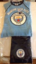 Manchester City FC New Logo Pajama Set Officially Licensed Product Sz 4-5 Years