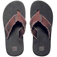 Quiksilver Men's Flip Textile Flops Toe Post Shower Slippers Slippers NEW