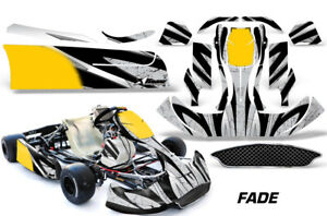 Go-Kart Graphics kit Decal for CRG NA2 New Age Bodywork Fade Silver