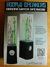 BOOM2O DANCING WATER SPEAKERS - New Sealed in Box